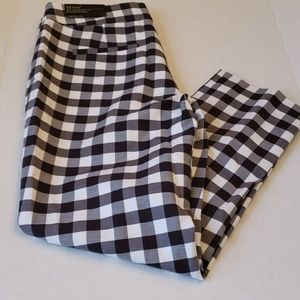 Ann Taylor Devin Gingham Cropped Pants NWT